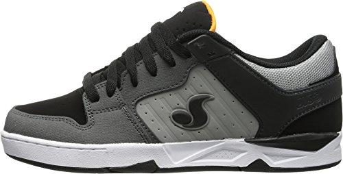DVS Men's Argon Skateboarding Shoe, Black/Grey Dirt Gunny Nubuck, 9.5 M US