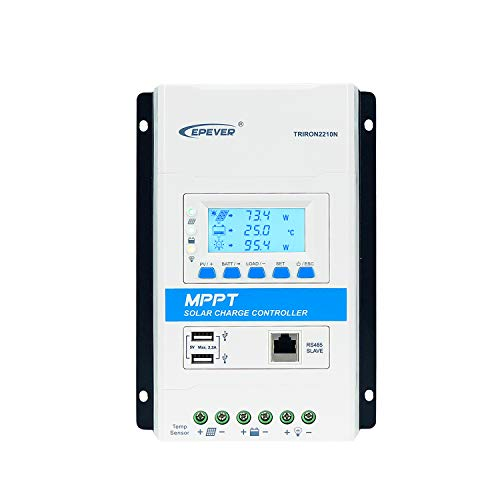 EPEVER MPPT Charge Controller 20A 12V 24V Auto Solar Panel Charge Controller Intelligent Regulator Tririon2210N wth DS2 UCS modules 20A,Triron2210N