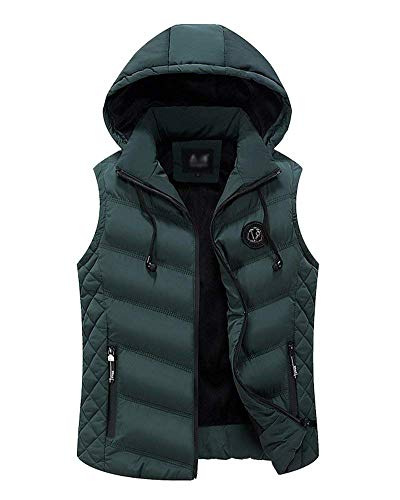 Solid Rmellos Grün Vest Slim Jacket Thickening Vest Thickening Down Color Jacket Breathable Closure Sport Mens Hooded Coat Unique Vest pqf5qxw