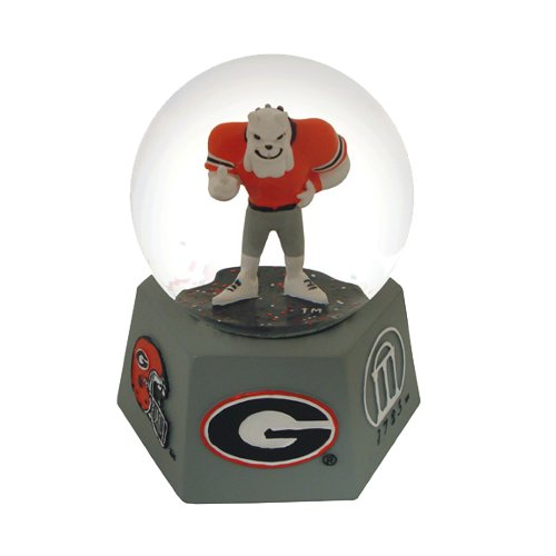 NCAA Georgia Bulldogs Logo Musical Snow Globe