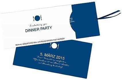 Einladungskarte Zum 40 Geburtstag Dinnerparty