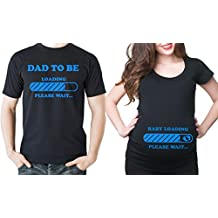 Baby loading couple maternity t-shirts dad to be t-shirt