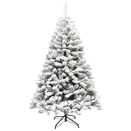 Super Holiday 6-Foot Snow Flocked Hinged Artificial Pine Christmas Tree