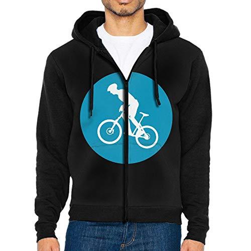 Icon Full Zip Hoody - Mountain Bike Circle Icon Boys' Adult Full Zip Fleece Hoodie Athletic Sweaters