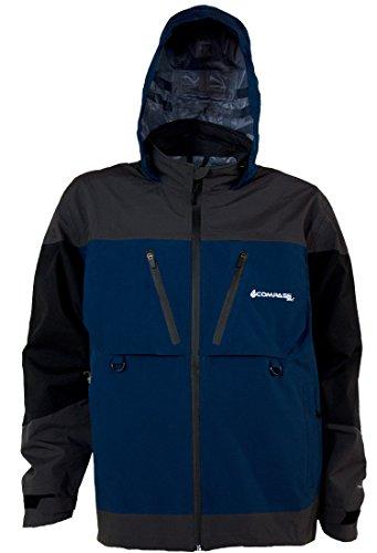 COMPASS 360 D300 Hydrotek Rain Parka, X-Large, Black/Slate/Blue
