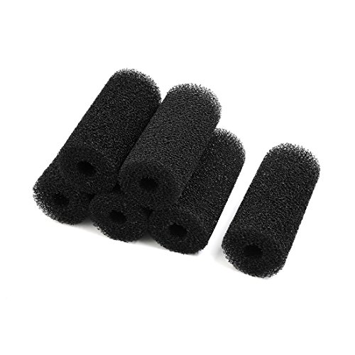 uxcell 6 Pcs Aquarium Fish Tank Foam Cartridge Replacement Filters Sponge (Sponge Filter Replacement)