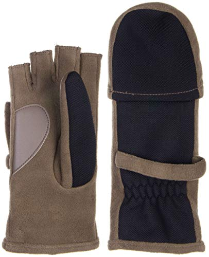 Isotoner Womens Tech Stretch Hybrid Flip Mitten - ThermaFlex Smoky Taupe Large - X-Large