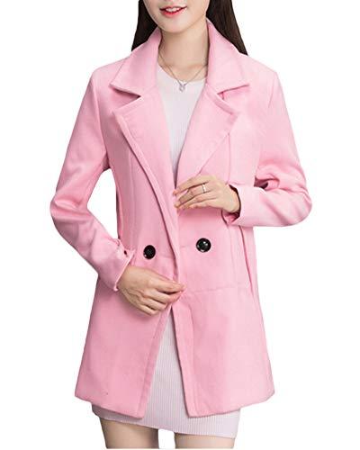 Zhuikuna Manteau Femme Veste Manteau Coat En Rose Blazer Laine Élégante Trench HaXHrUn