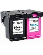 Gmoher Gereviseerde Inktcartridge voor HP 304XL HP 304 Inktcartridge N9KO8A / N9KO7A Compatibel met HP DeskJet 3720 3730 3732 3735 HP Envy 5020 Printer (1 Zwart, 1 Driekleuren)