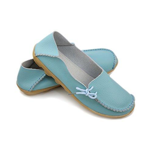 iFang - Sandalias con cuña mujer azul claro
