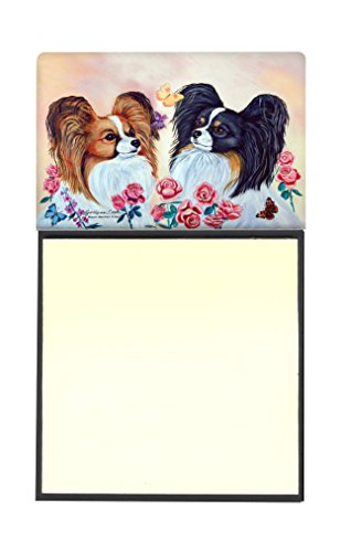 Caroline's Treasures 7272SN Papillon Refillable Sticky Note Holder or Postit Note Dispenser, 3.25 by 5.5'', Multicolor by Caroline's Treasures