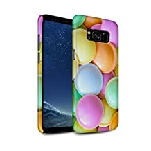 STUFF4 Gloss Hard Back Snap-On Phone Case for Samsung Galaxy S8/G950 / Flying Saucers Design / Confectionery Collection