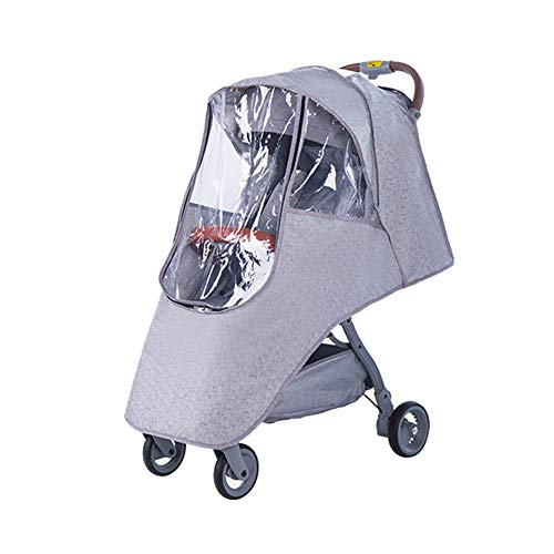 Stroller Rain Cover & Mosquito Net,Weather Shield Accessories - Protect from Rain Wind Snow Dust Insects Water Proof Ventilate Clear-Breathable Bug Shield for Baby Stroller by Vanshchan