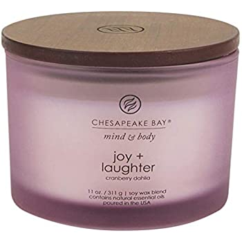 Chesapeake Bay Candle Scented Candle, Joy + Laughter (Cranberry Dahila), Coffee Table