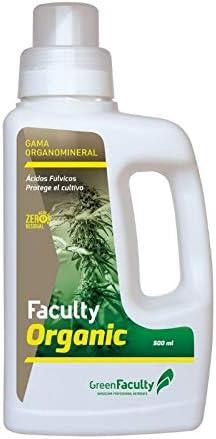 GreenFaculty Abono Fertilizante: Faculty Organic: Materia ORGANICA LIQUIDA ECOLÓGICA 500 mL. Cero Residuos, Apto para Cultivo Medicinal