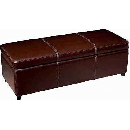 Outstanding Amazon Com Leather Upholstery Storage Bench Ottoman Lift Up Theyellowbook Wood Chair Design Ideas Theyellowbookinfo