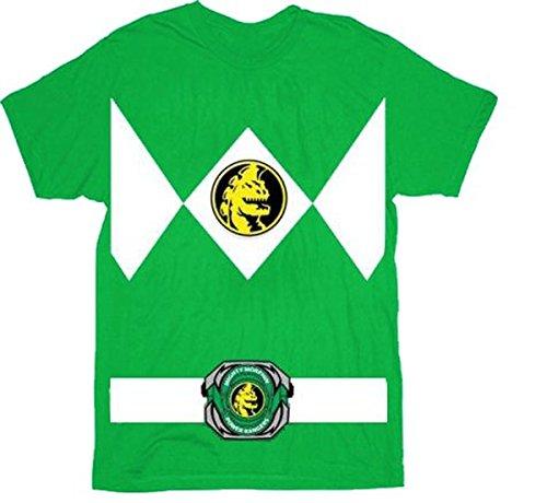The Power Rangers Green Rangers Costume T-shirt Tee (Youth Smalll) (Power Rangers Green Ranger Costume)