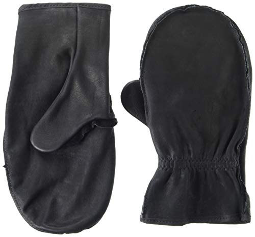 Black Large Choppers - American Made Black Cowhide Leather Chopper Mitt Gloves , 9100BK, Size: Jumbo