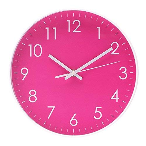 Filly Wink Simple Wall Clock Sweep Second Hand Non Ticking Battery Operated Easy to Read Decor Kitchen,Bathroom,Office 10 Inch Hot ()