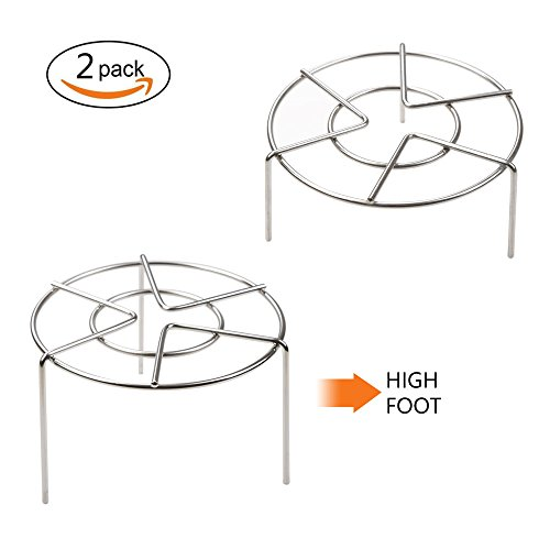 Steam Rack Cooking Ware Instant Pot Trivet Steaming Rack Stand,Round Steamer Rack Stand 2 Packs /Set, High Foot 2.5 Inch Height 3.8 Inch Height  Eggs Rack Food - Foot Rack