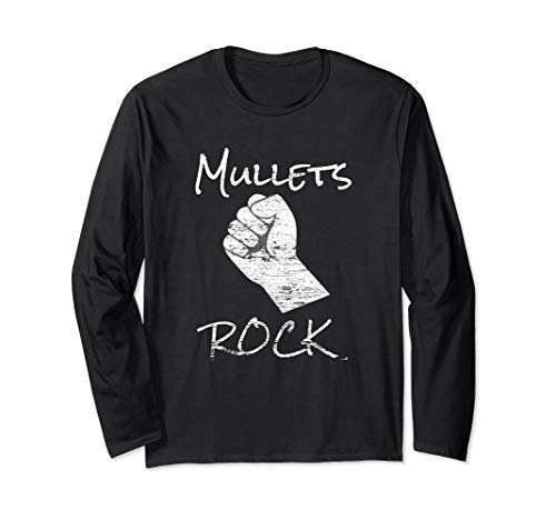 Funny Mullet Mullets Rock 80's Party Costume  Long Sleeve ()
