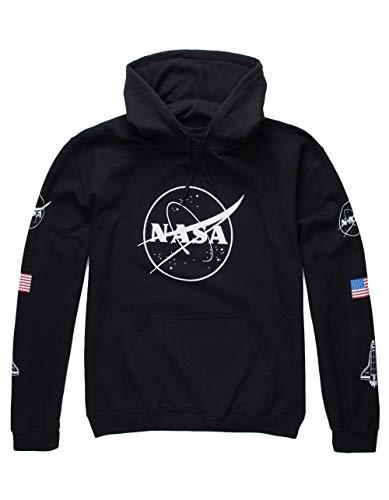 NEON RIOT NASA Logo Hoodie, Black, Large ()