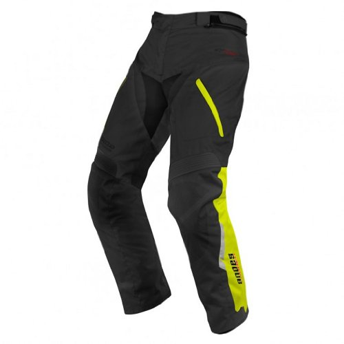 Alpinestars Andes Drystar Waterproof Textile Pants 2013 Black Fluorescent Yellow XXXXL/XXXX-Large by Alpinestars