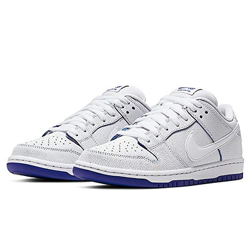 Dunk Low Premium (White/White-Game Royal 9.5)
