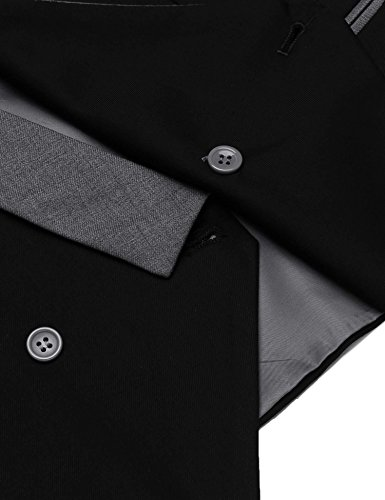 COOFANDY Mens Dress Vest Formal Business Waistcoat One Button Slim Fit Suit Vest by COOFANDY (Image #5)