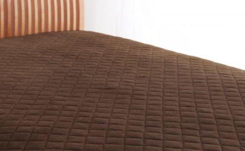綿100%で快適!敷パッド 同色2枚セット (キング) モカブラウン B072L4X3C3 キング|モカブラウン モカブラウン キング