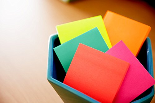 Post-it Notes, 5 Pads, America's #1 Favorite Sticky Note, Call Out Important Information, Cape Town Colors, 3 x 3, 100 Sheets/Pad (654-5PK)