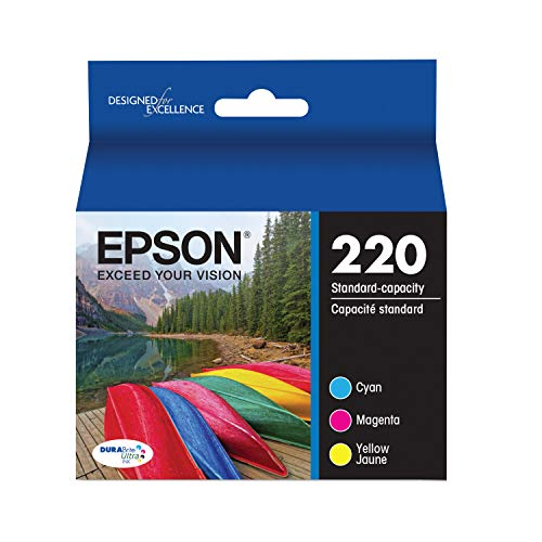 Epson T220520 DURABrite Ultra Color Combo Pack Standard Capacity Cartridge Ink (WF-2760, WF-2750, WF-2660, WF-2650, WF-2630, XP-424, XP-420, - Replaces Epson Part