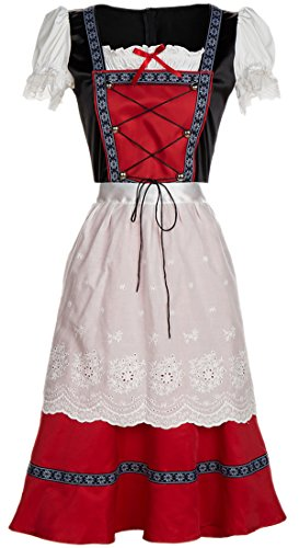 Alivila.Y Fashion Oktoberfest Costume Maid Beer Girl Costumes 31688-Red-XL -