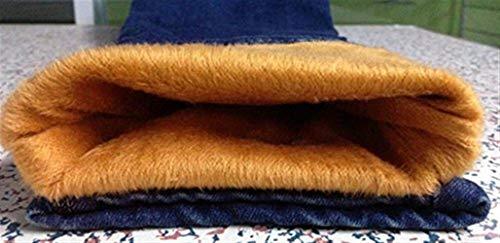 Mujeres Invierno De Estiramiento Blau Gran Grueso Lápiz Vaqueros Con Paño Suave Mezclilla Las Pantalones Tamaño Elástica Caliente Pitillo Y 1 Casuales Cintura Otoño El O7q6wy5