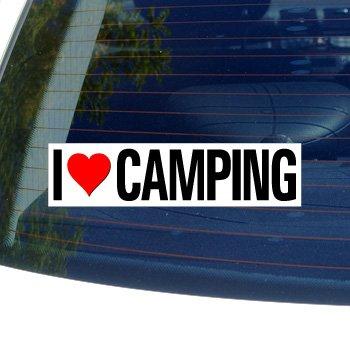 Love Heart CAMPING Window Sticker