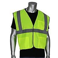 Safety Works CVCL2SLXL Chaleco de seguridad de clase 2, Poli Verde lima con rayas reflectantes, Extra grande