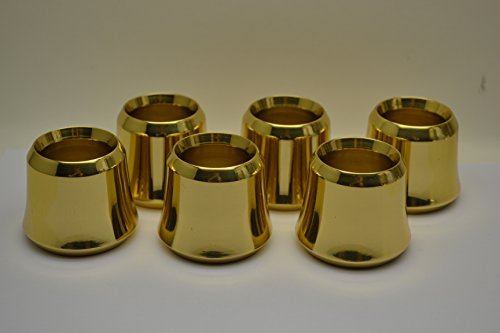 Set of 6 Solid Brass Candle Followers 1 1/2'' size, Brand New Burners (set of 6) by Classical Church Goods