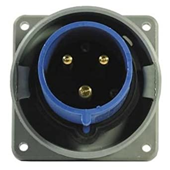 hubbell wiring systems hbl363b6w shore power inlet with mounting rh amazon com 220 Volt Hubbell Wiring Devices Hubbell Wiring Devices 9331