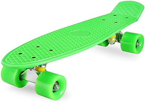 Xootz Kid/'s Complete Rétro Plastique Skateboard avec DEL Light Up wheels