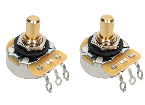 PAIR (2X) CTS 450G Series 250K Short SOLID Shaft Audio Taper Potentiometers / Pots - 10% Tolerance ()