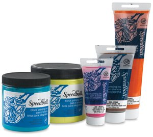Speedball 3817 Water-Soluble Block Printing Ink – Bold Color With Satin Finish AP Certified Non-Toxic - 8 FL OZ, Platinum White by Speedball Art Products Company