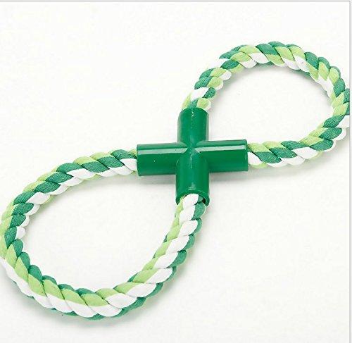 Yeah67886 Cuerda de algodón para masticar (25 cm), diseño de perro y gato