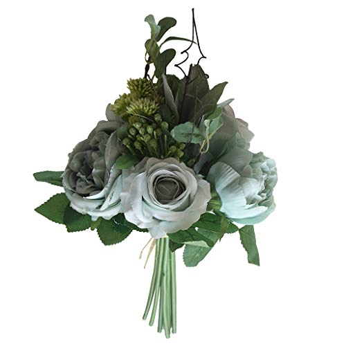 Ktyssp Multicolor Phantom Rose Peony TOP Silk Flowers Bouquet Single Decor Wedding (C)