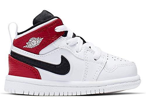 Jordan 640735-116: Toddler's 1 Mid White/Black/Gym Red Sneakers (10 M US Toddler) -