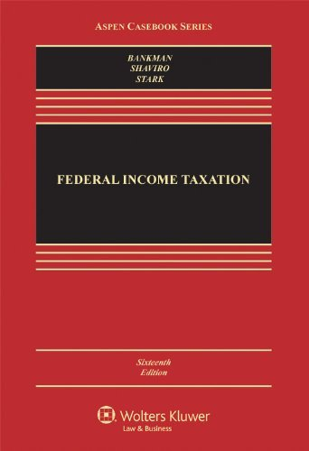 Download By Klein - Federal Income Taxation, Sixteenth Edition (Aspen Casebook Series) (16th Edition) (5/21/12) pdf