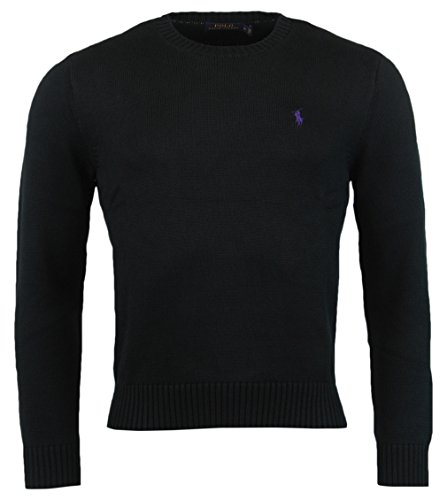 Polo Ralph Lauren Men's Cotton Crewneck Pullover, Black, XL