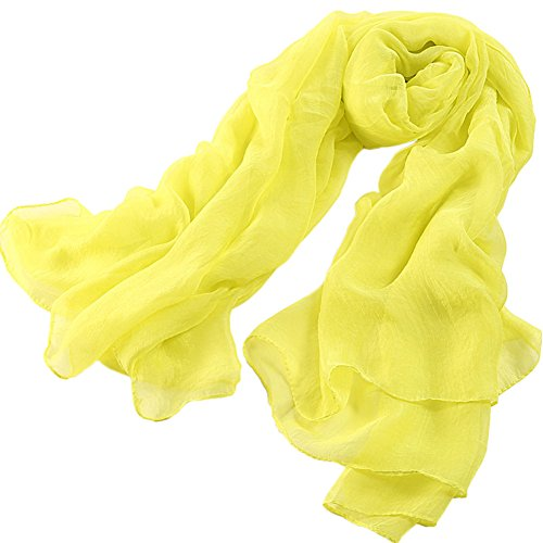 X&F Women's Solid Big Chiffon Scarf Summer Decorative Wrap Shawls Cover-up 70.8