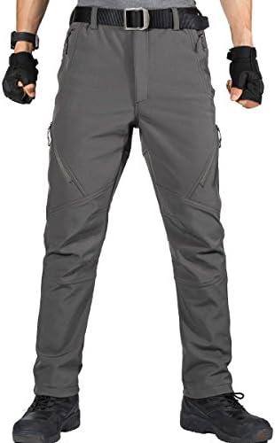 La Marche FREE SOLDIER Pantalon Imperm/éable Homme Pantalon de Ski Softshell Pantalon de Chasse Dext/érieur Doubl/é en Polaire Thermique dhiver pour La Randonn/ée La P/êche