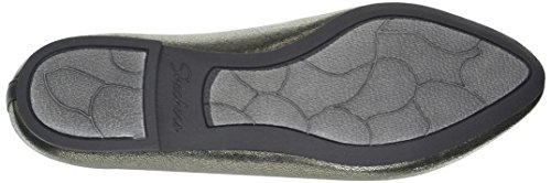 Dazzles EU Metallic Skimmer Charbon Stretch fit Gris Cleo 39 Skechers49774 Femme 4pwqTT