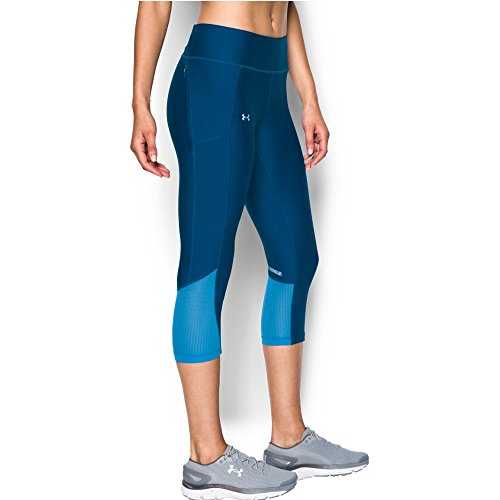 Under Armour Women's Fly-By Capri, Heron/Water, Large